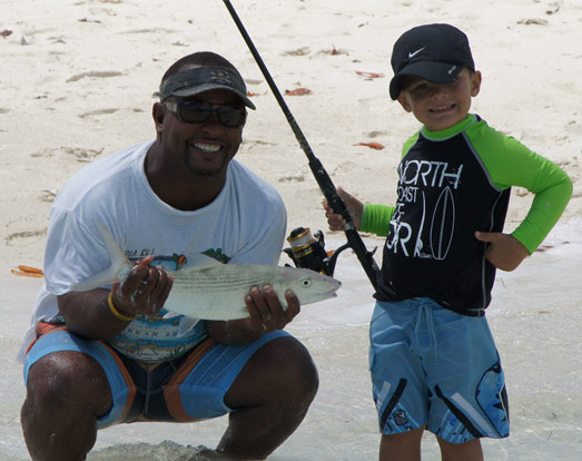 Bone fishing in Turks and Caicos